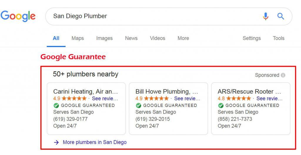 New Google Guarantee to ease booking plumber, hvac professional, electricians