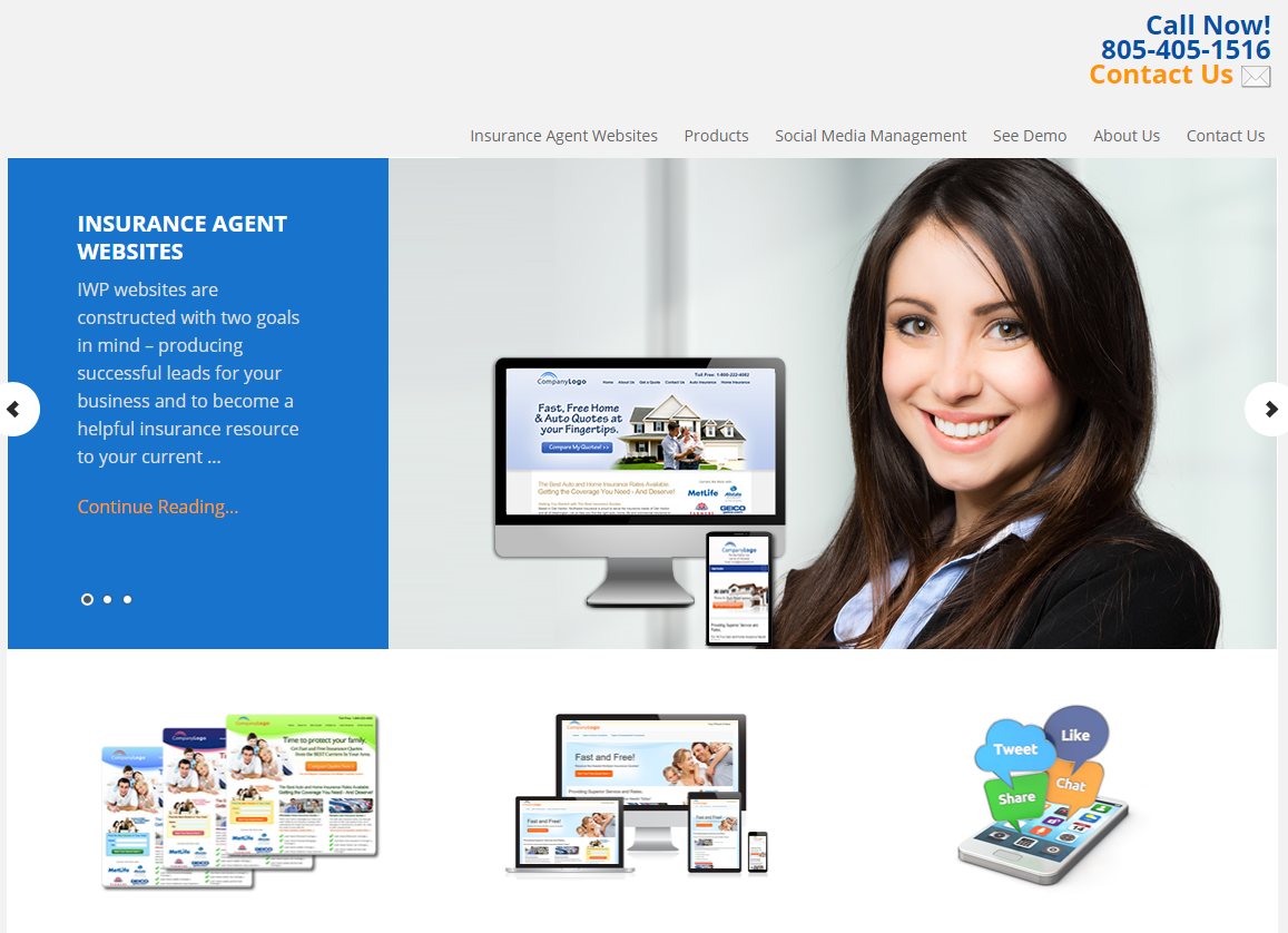 Insurance Web Pros Launches New Line of Responsive Website Templates for Auto and Home Insurance Agents and Agencies
