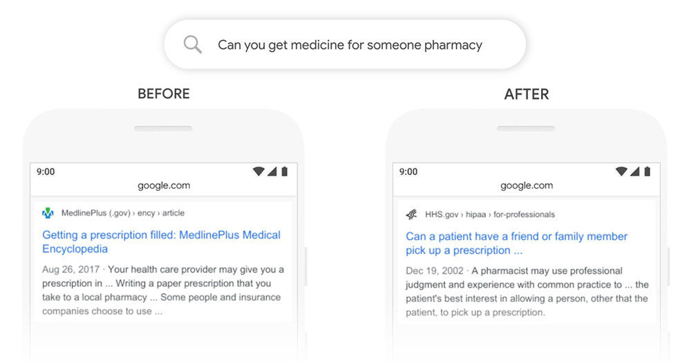 If user searches'can you get medicine for someone pharmacy', you can see from the before and after picture, new result is more relevant.