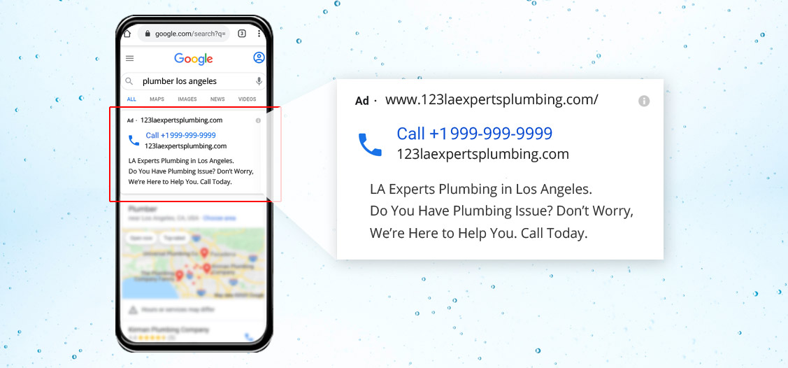 Google Call-only Campaign to cater to emergency plumbing situations