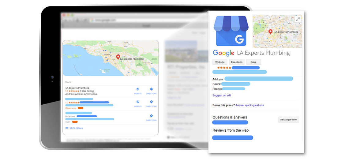 Optimize your plumbing company's Google My Business listing for the service areas