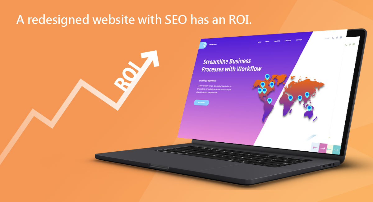 A redesigned website with SEO has an ROI