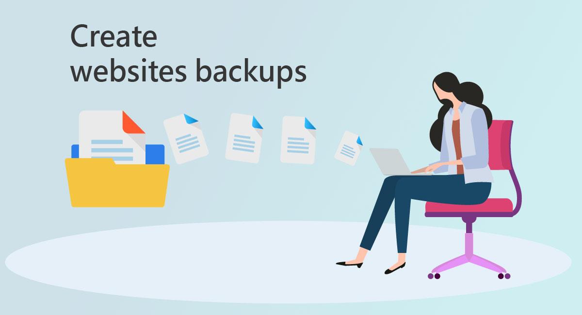 Create website backups