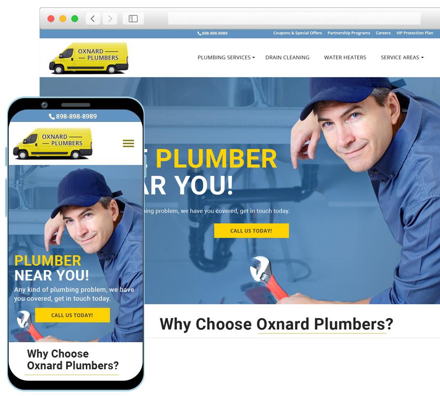 Plumber Web Design SEO Services