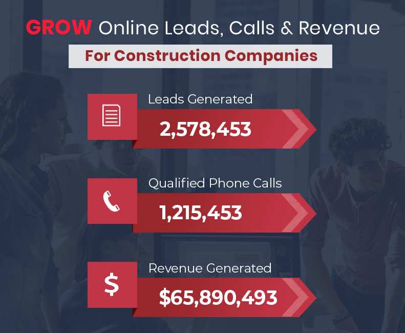 Grow Online Leads, Calls and Revenue for your construction Company